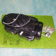 3D Black Golf Bag Cake