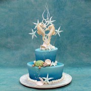 Wedding Cake with Double Sea Horses