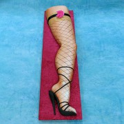 Leg in Fish Net Stocking