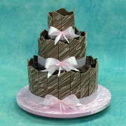 Chocolate Wedding Cake with Milk Chocolate Panels