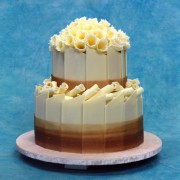 Wedding Cake with Chocolate Panels