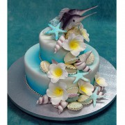 Marlin Couple Wedding Cake