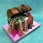 3D Treasure Chest Cake