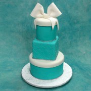 3 T Tiffany Wedding Cake