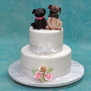 Dog Couple Wedding Cake