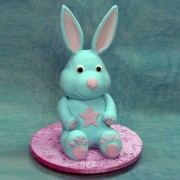 Soft Toy Blue Rabbit Cake