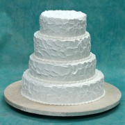 4 Tier Rough Icing Cake