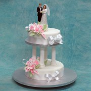 2 Tier with Porcelain Couple