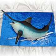 Marlin Fish 3D Cake