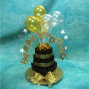 Baloons on A 3Tier Cake