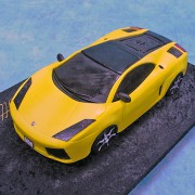 Yellow Lamborgini Cake