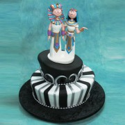 Egyptian Couple Wedding Cake
