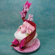 3D Cup Cake with Ballet Shoes