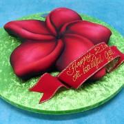 3D Frangipani Flower Cake