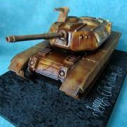 Leopard Tank Cake