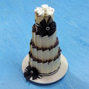 Black And White Chocolate Wedding Cake