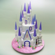 3 Tier Princess Castle Cake