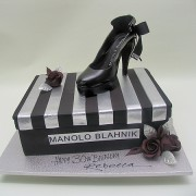 Black Shoe Cake