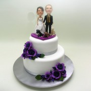 Real Face Couple Wedding Cake