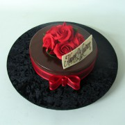 Small Cake with Red Rosses