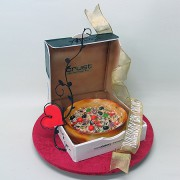 Pizza in Abox 3D Cake
