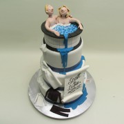 Spilling Spa Wedding Cake