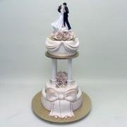 2 Tier Classic Wedding Cake