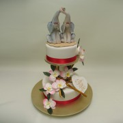 Elephant Couple Wedding Cake