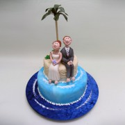 Couple Under Palm Tree