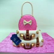 White And Pink Bags