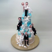 4 Tier 4 Generation Wedding Cake