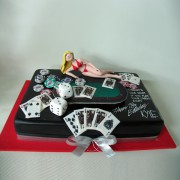 Lady on A Poker Table Cake