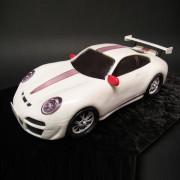 White Porsche Cake