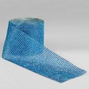 Copy Diamonte Mesh 11.5cm X 9.14m Blue Per Metre (4934)