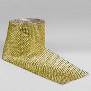 Copy Diamonte Mesh 11.5cm X 9.14m Gold Per Metre (L4934)