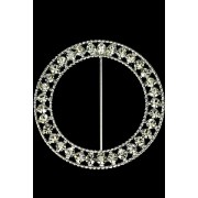Round Fancy Sash Buckle Diamonte 63mmd (M8509)