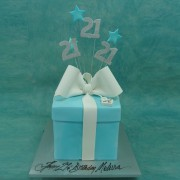 21St Tiffany Box Cake