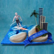50Th Landscape Surfer Cake