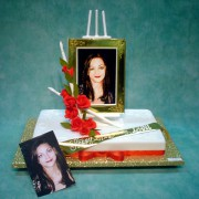 1 Tier Portrait on Canvas Cake