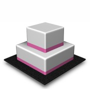 2 Tier - Square - High - 90 Portions