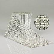 Copy Diamonte Mesh 11.5cm X 9.14m Silver Per Metre (L4935)