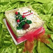 White Mud Christmas Tree Cake