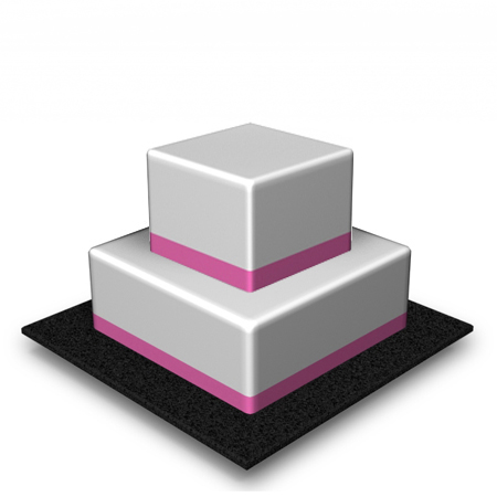 2 Tier Square High 90 Portions
